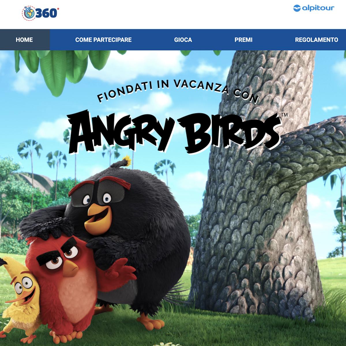 Fiondati in vacanza con Angry Birds