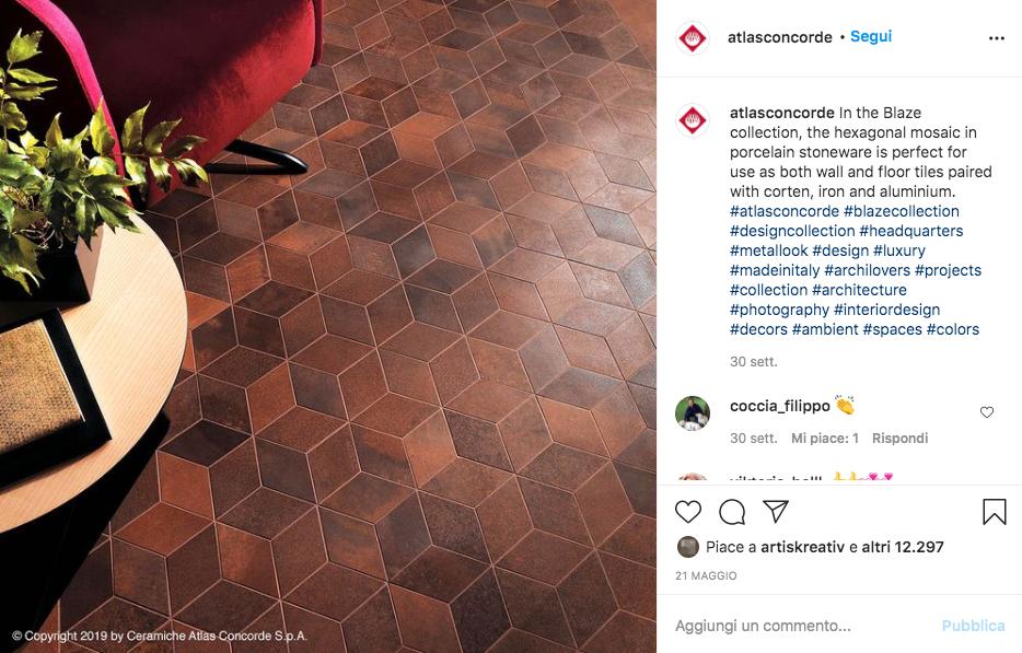 Instagram come una vetrina