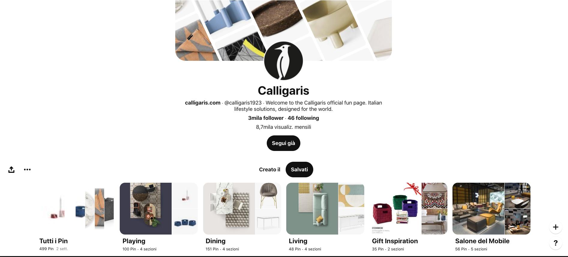 Pinterest per i designer lovers