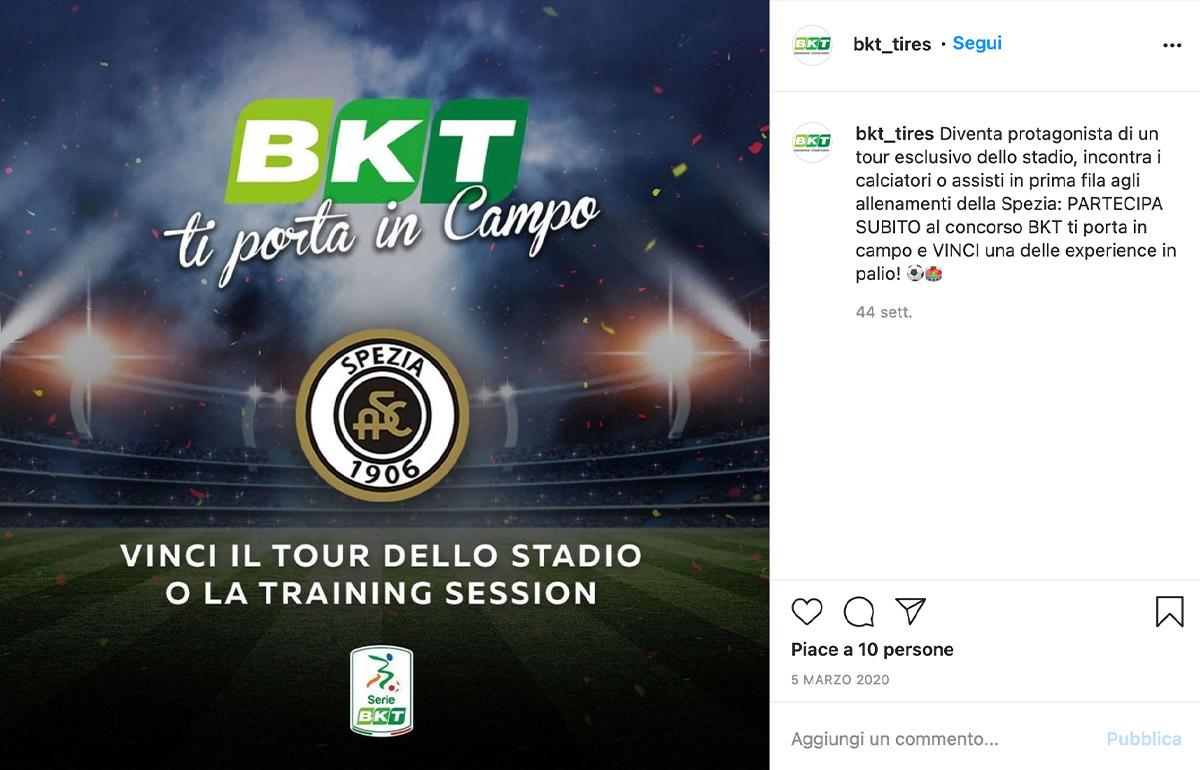 """Contest """"BKT Ti porta in campo"""""""