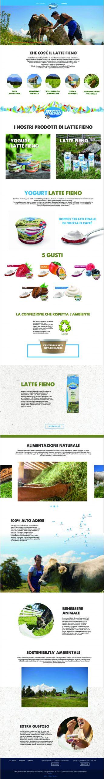 Landing Page latte fieno