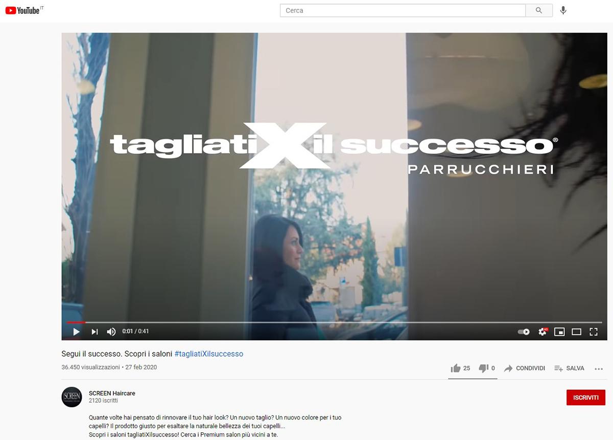 """Video web  per brand """"Tagliati per il successo"""""""